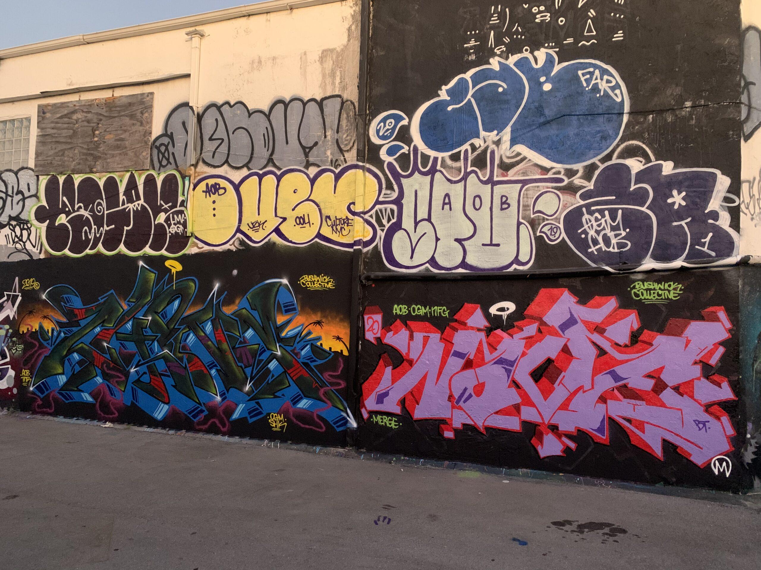 AOB in Miami, Wynwood Walls during Art Basel, Florida. 2019.