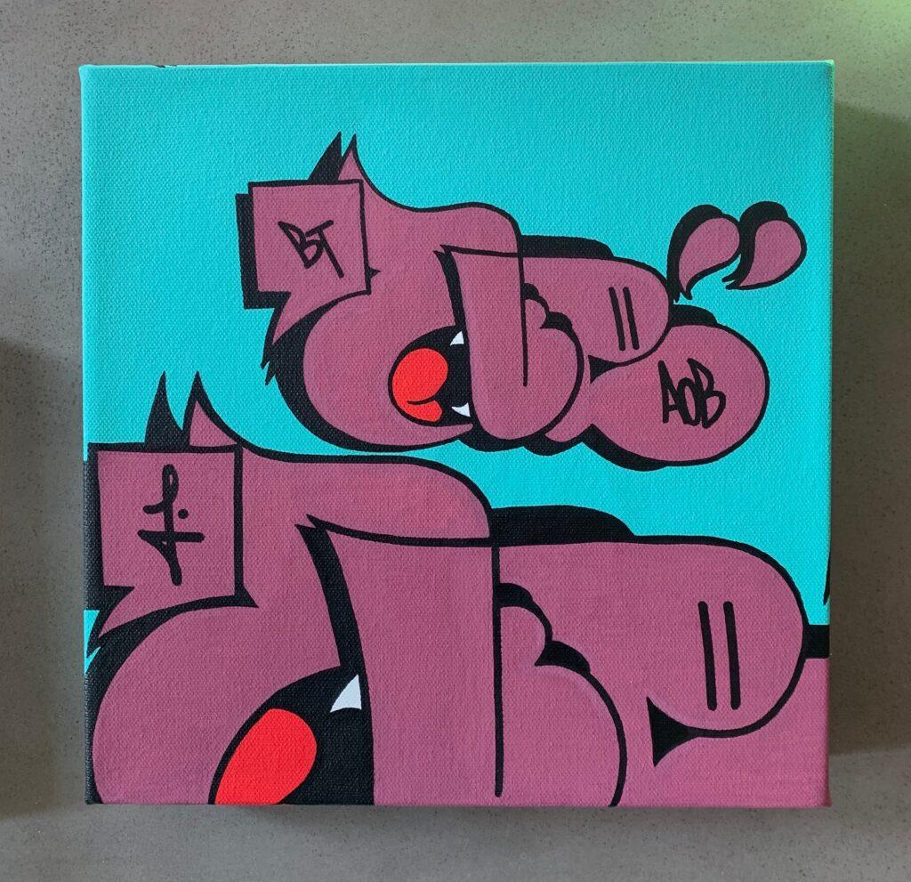 Nover Throwie Graffiti Canvas, 2020.