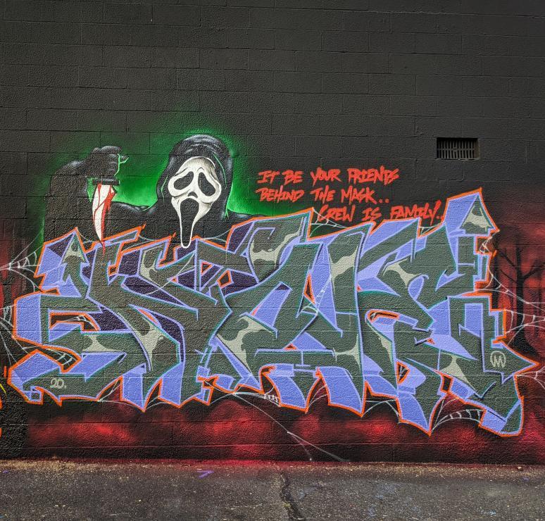 Nover, BT Halloween Wall, Passaic NJ, 2020.