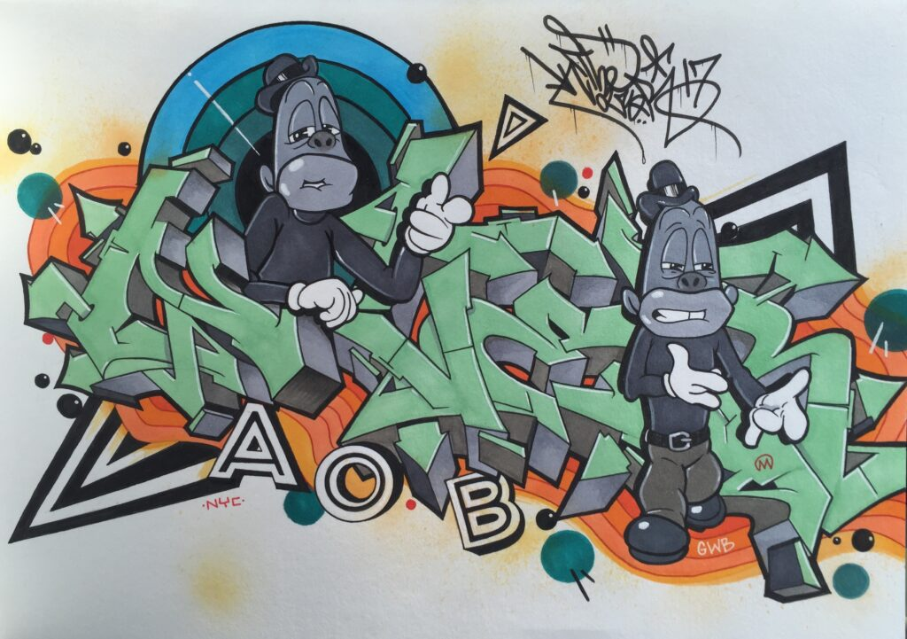 JayBo by Nover, Markers & Pen on Paper, 2016.
