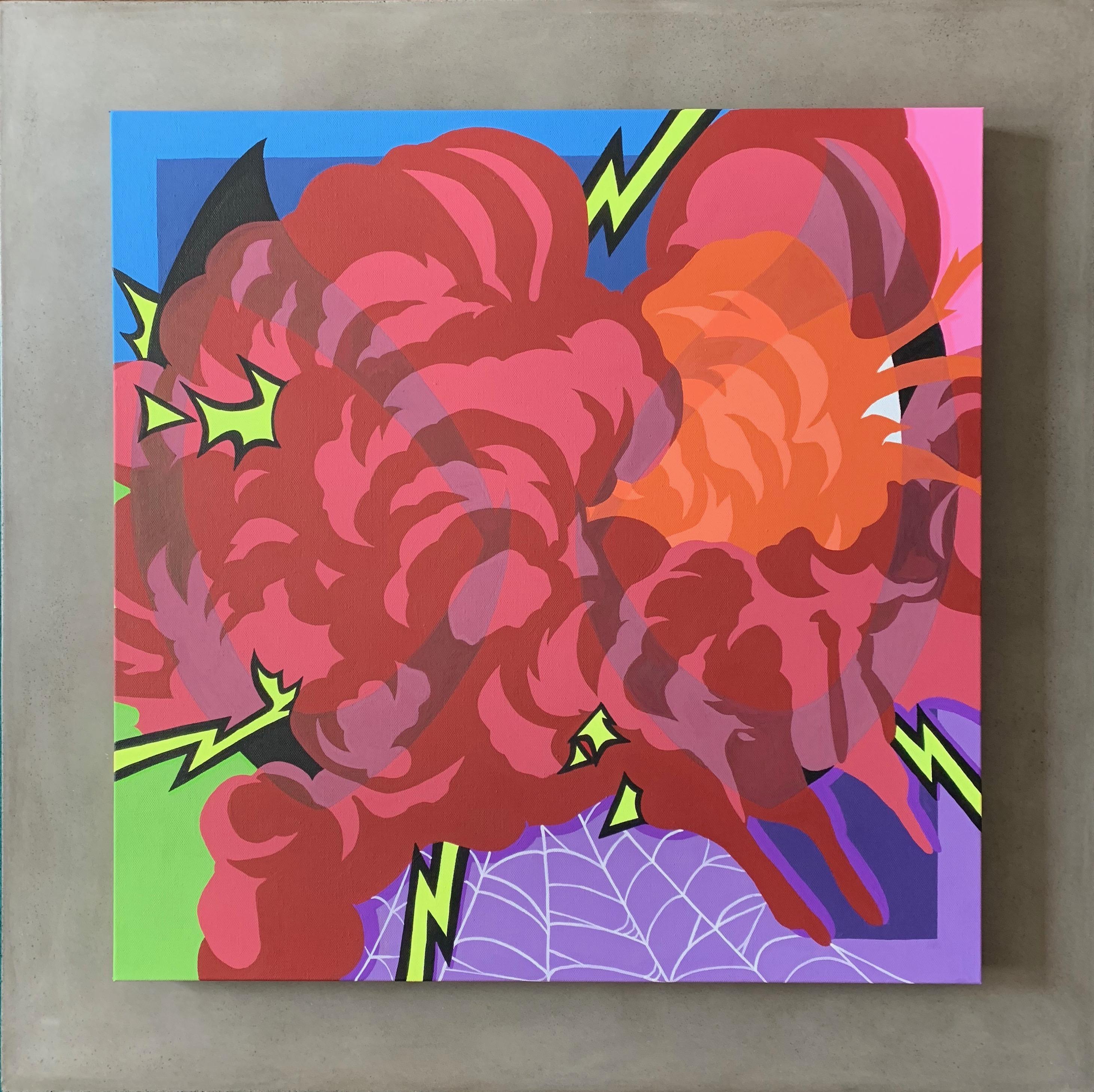 """""""Insight"""", 24x24"""" Canvas, Acrylic Paint. 2019."""