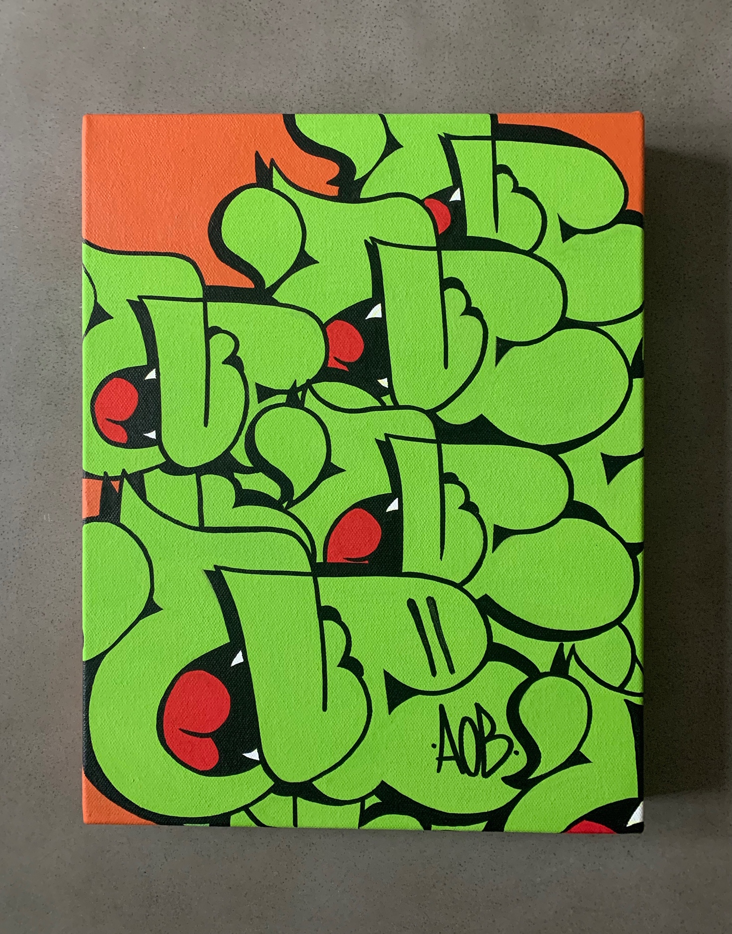 11x14' Nover Green Throwie Canvas, 2019.