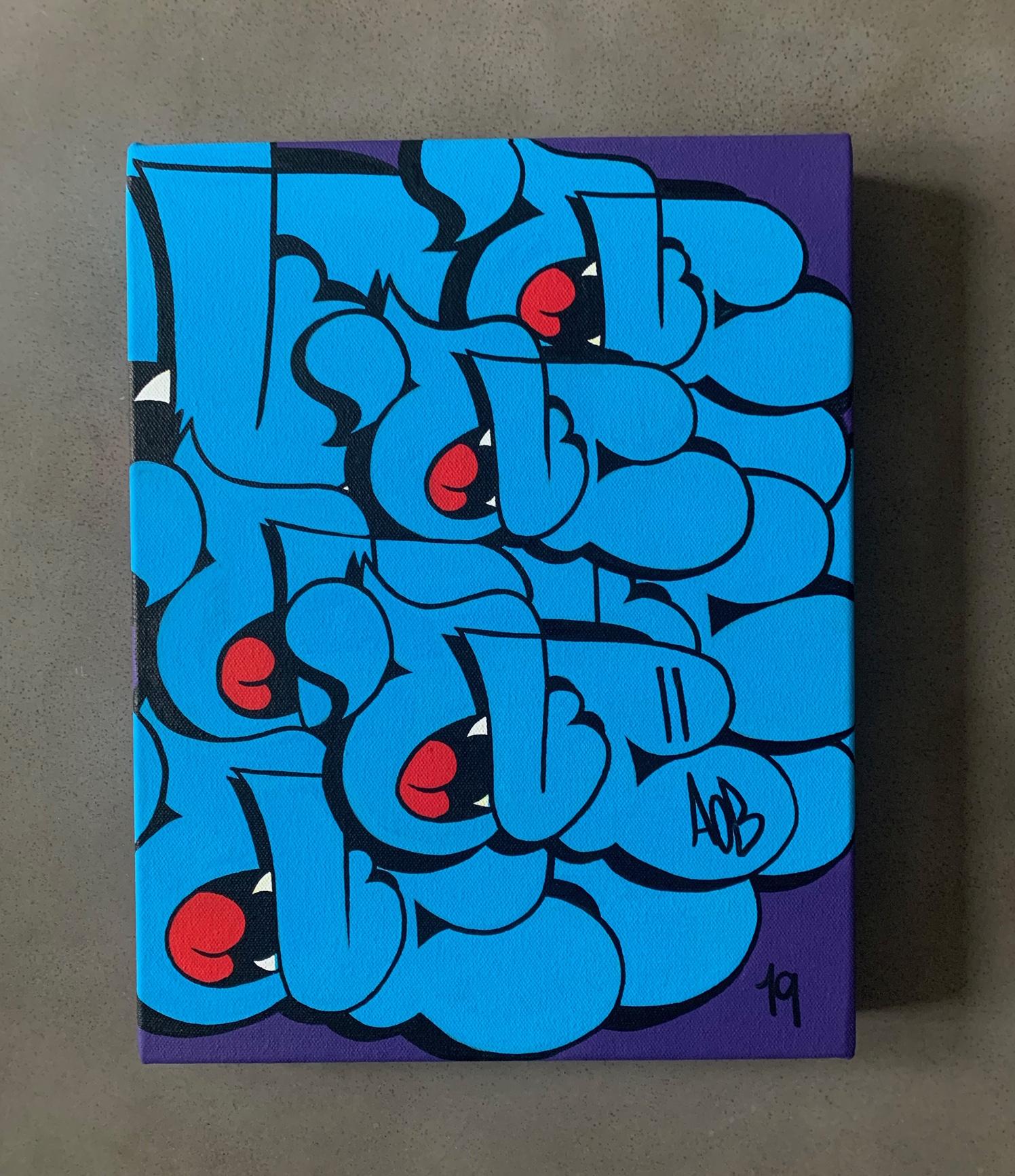 11x14' Nover Blue Throwie Canvas, 2019.