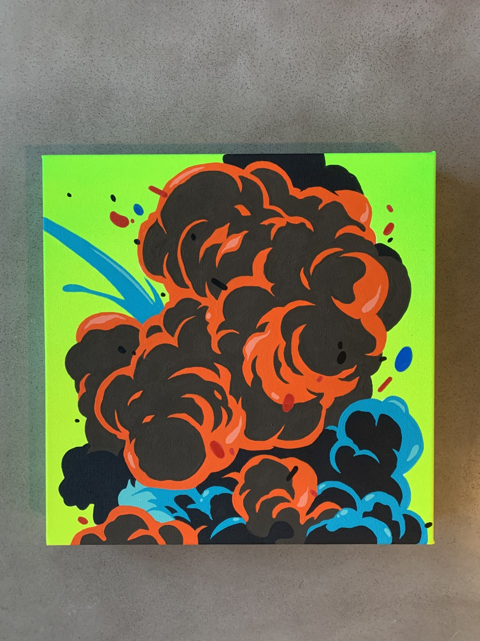 'Chemical', 12x12' Gallery Wrapped Canvas by Nover, 2020.