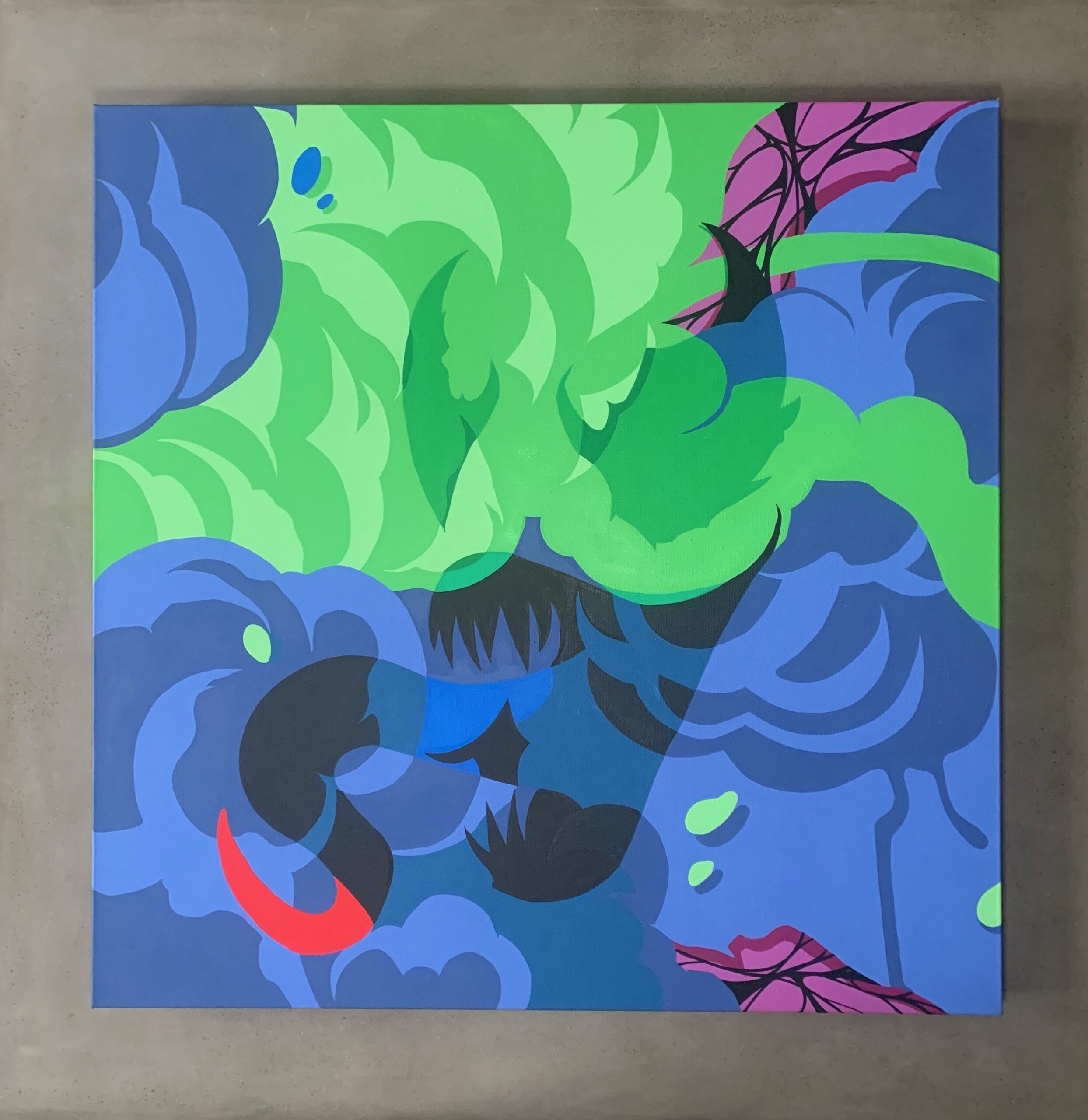 """""""We Are"""" 24 x 24' Gallery Wrapped Canvas By Nover.  Acrylic Paint, 2020."""