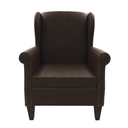 leather armchair with nailheads