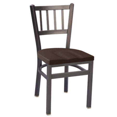 metal and wood chair for commercial use