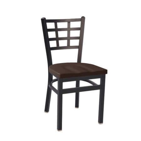 metal dining chair with wood seat