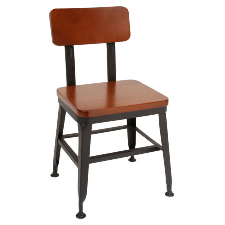 metal and wood dining chair for bars