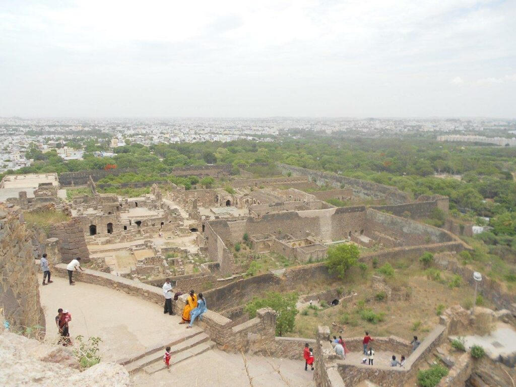 view from top of Golconda fort