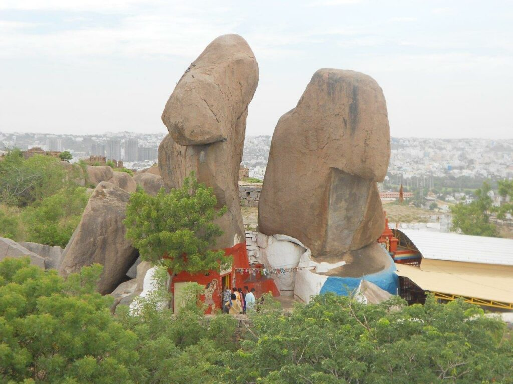 Mahakali temple at Golconda fort