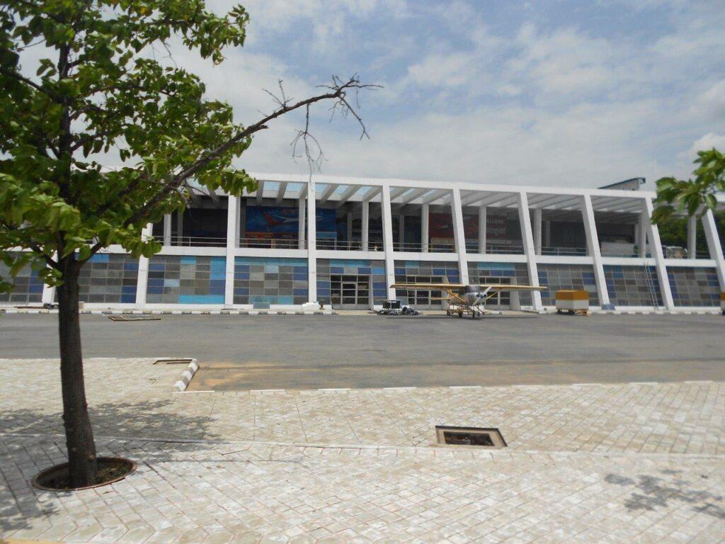 Shooting location of an airport at ramoji film city