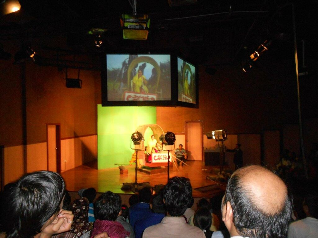Film making demo at ramoji film city
