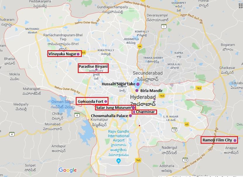 Point of Interest in Hyderabad