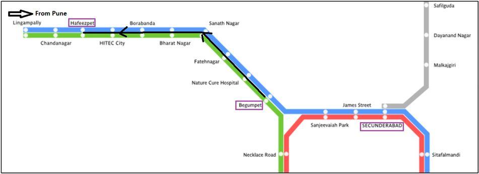 Hyderabad Local Train map
