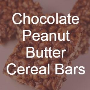 Chocolate Peanut Butter Cereal Bars recipe