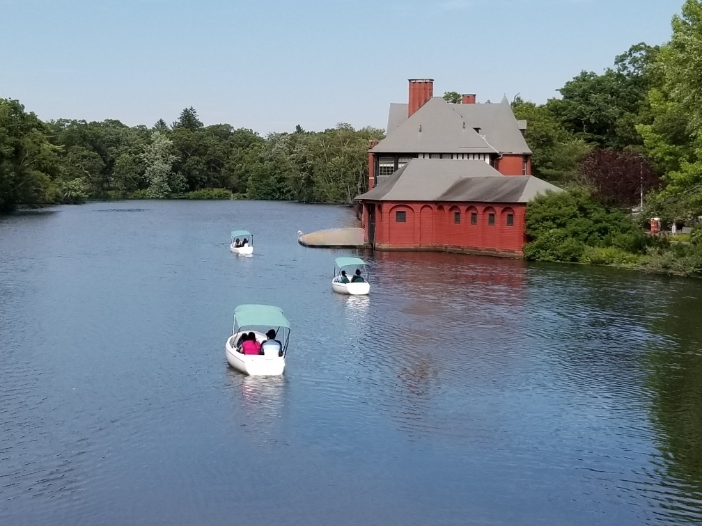 Electric Boats behind Boathouse
