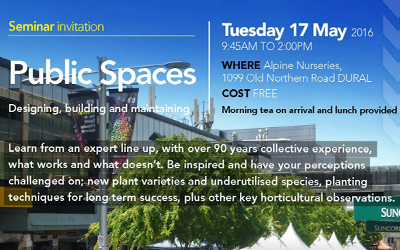 Matthew Tancred joins other experts at Alpine Nurseries Public Spaces seminar