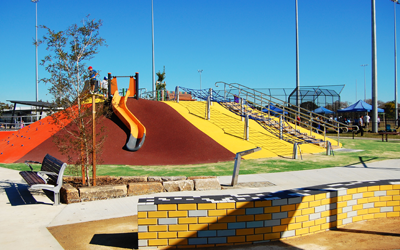 Chifley Playground construction – colourful, joyful and inclusive
