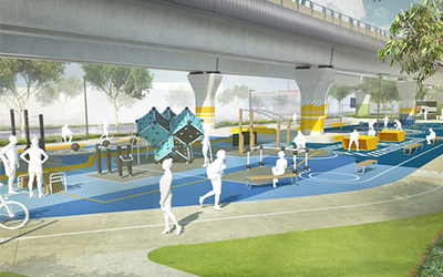 Clayton Road Linear Park – Level Crossing Removal