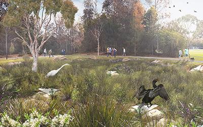 Cooks Riverside Parklands upgrade