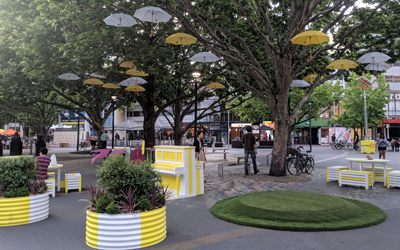 Garema Place pop-up micro park comes alive