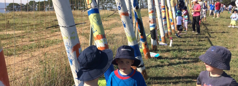 Community Day provides Googong children with input on playground construction