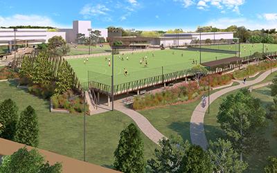 Inspiring landscaping around new UQ sports fields