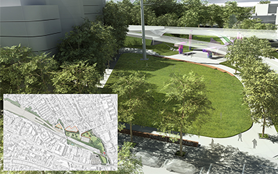 WestConnex M4 East Legacy Works: green infrastructure and community space