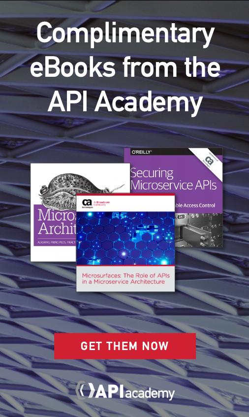 Free API books from the API Academy