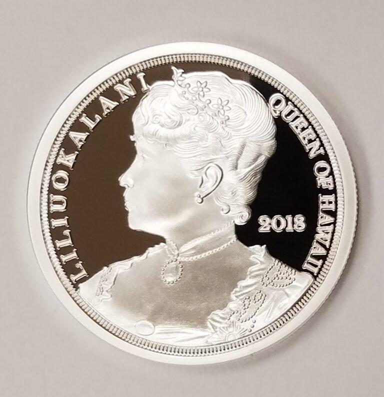 Queen Liliuokalani silver coin