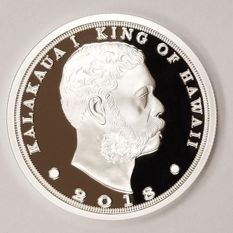 King Kalakaua 1 0z silver coin