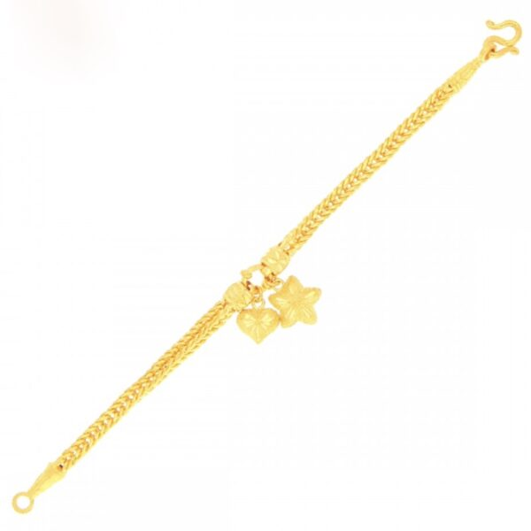 23k gold bracelet with pendant