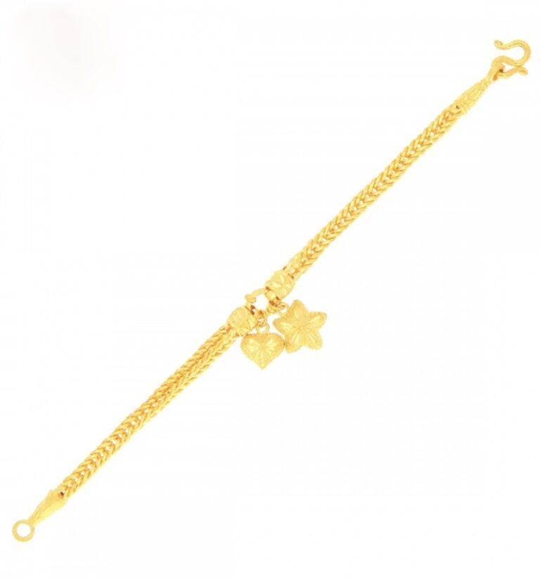 23k gold bracelet with pendant