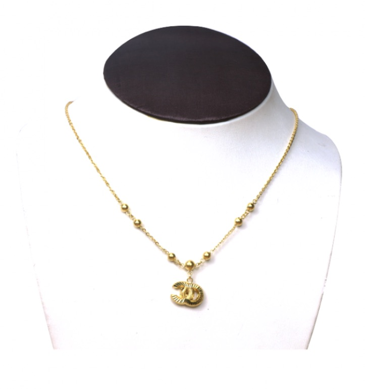 23k gold chain with pendant