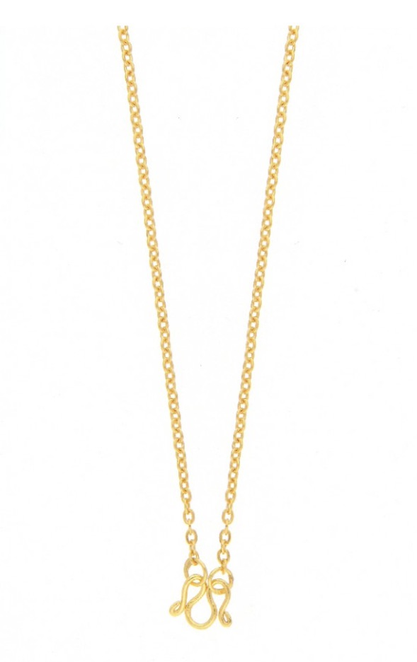 23k mini gold chain