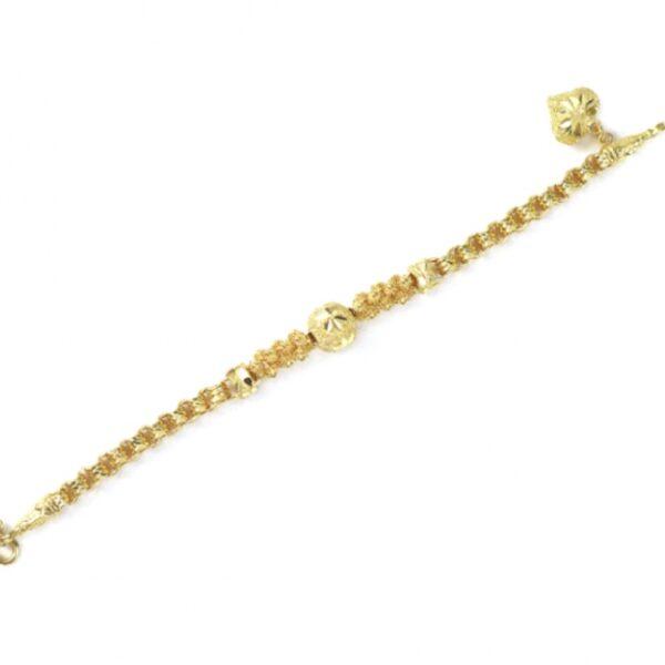23k gold thin bracelet