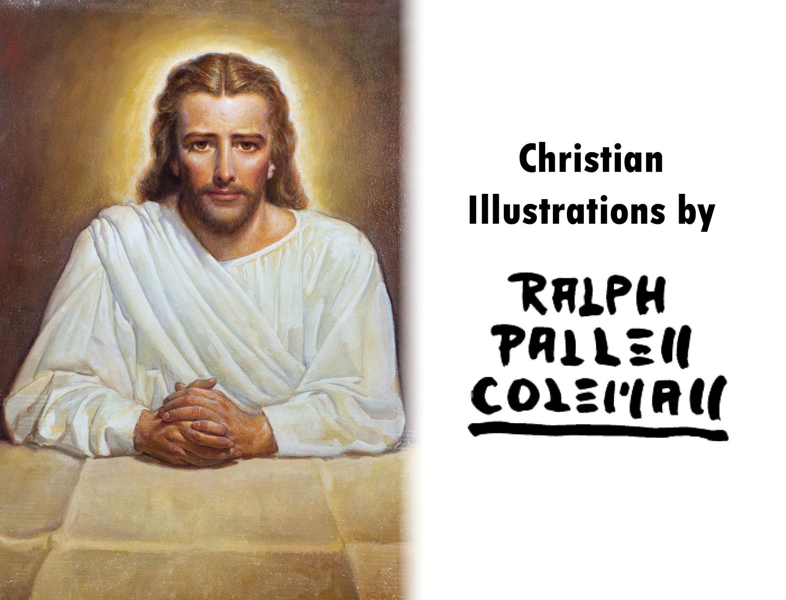Religious art book with Christian Illustrations and artwork by Ralph Pallen Coleman