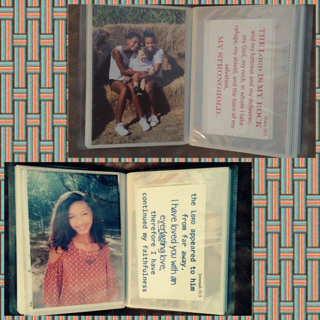 Bible Verse Photo Album Memory Flashcards