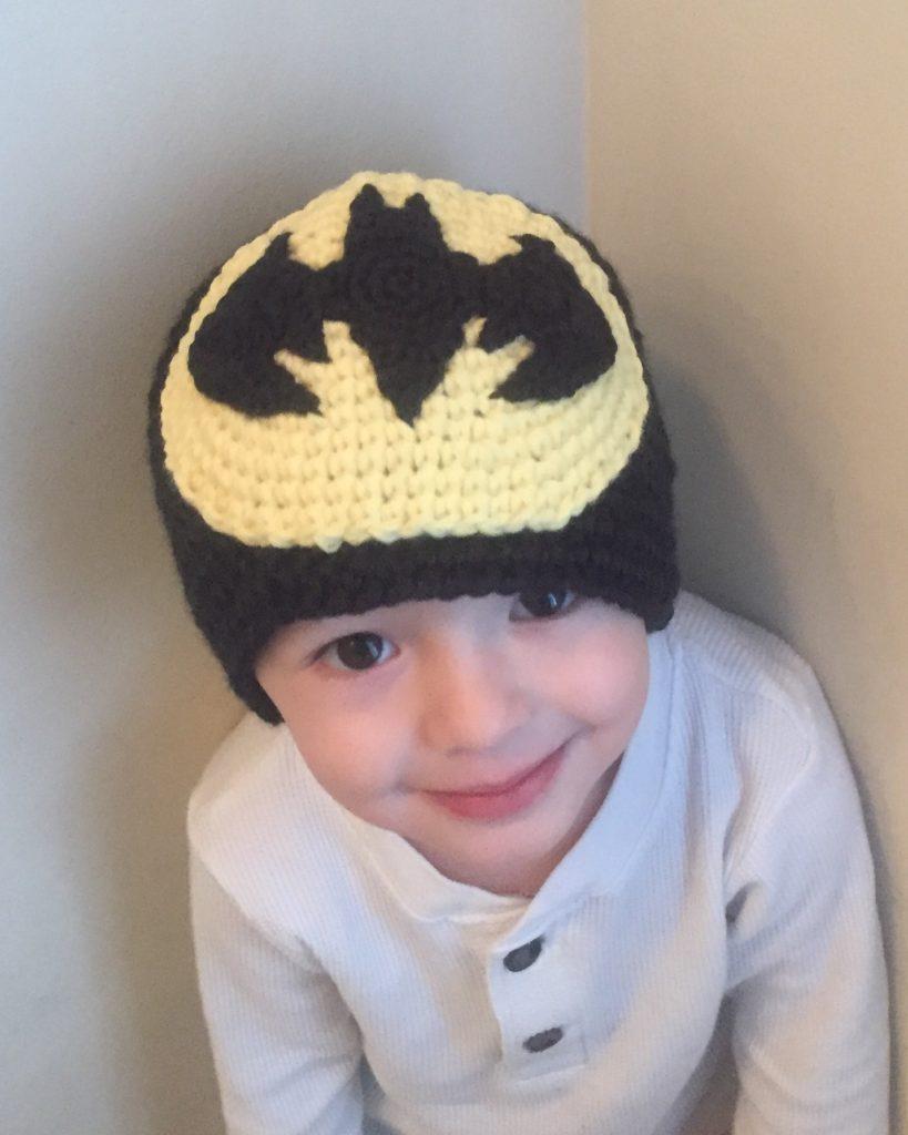 Batman applique crochet pattern