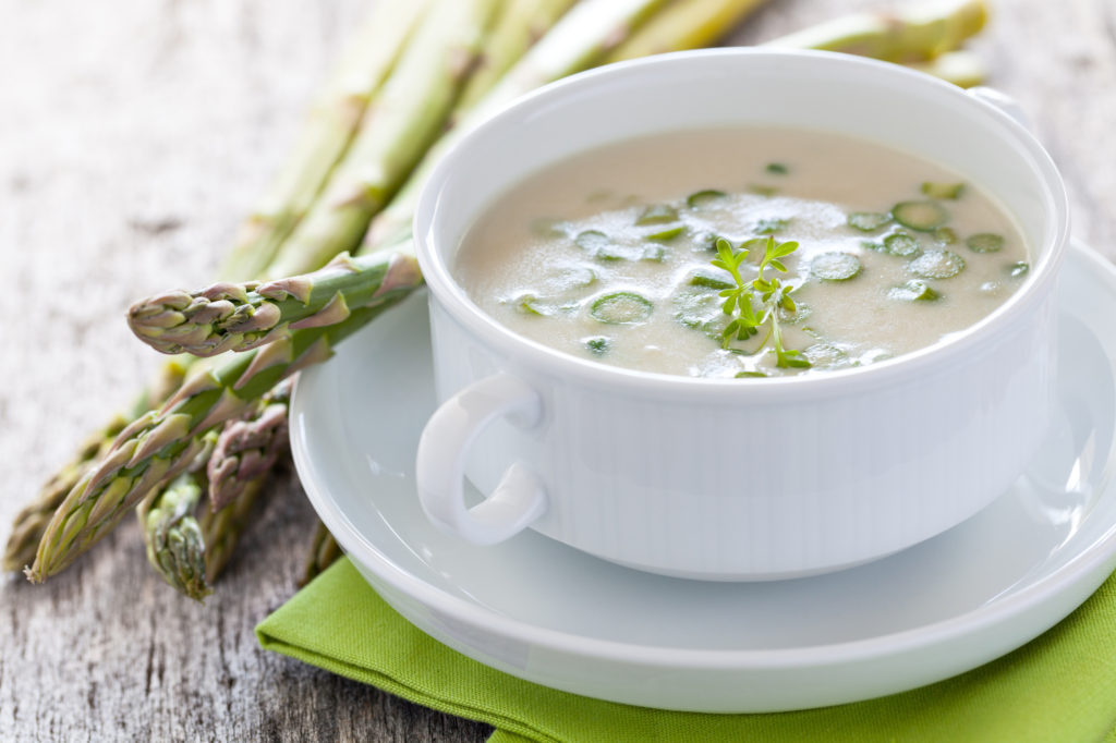 This delicious soup contains all the nutritional benefits of asparagus in a bowl.