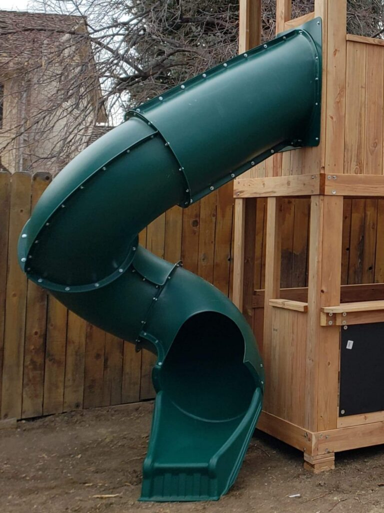 7' Enclosed Spiral Slide
