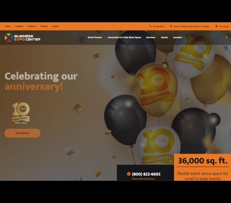 business expo center website preview