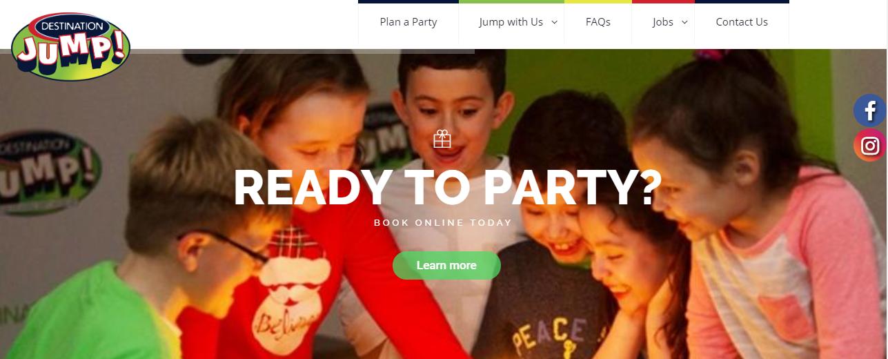 Destination Jump Website