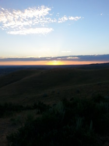 Boise Sunset from the top of Corrals Trail.