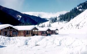 The cabins at V-V Ranch.