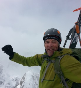 Pretty stoked to be on the summit. Highest peak skied to-date.