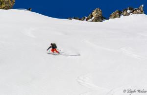Cody Feuz decending off Mount Moran in the Grand Teton National Park