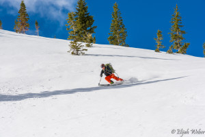 Cody Feuz descending off Mount Moran in the Grand Teton National Park