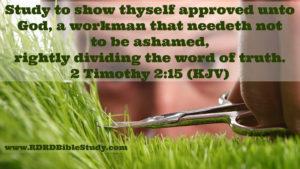 RDRD Bible Study 2 Timothy 2.15